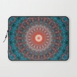 Blue orange , mandala Laptop Sleeve