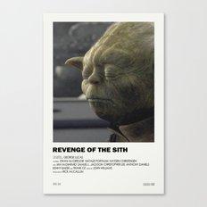 Revenge of the Sith Alternative Vintage Poster Canvas Print