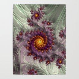 Saffron Frosting - Fractal Art Poster