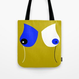 Breasticles In Yellow and Blue Tote Bag