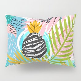 abstract palm leaves Pillow Sham