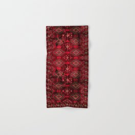 N129 - Epic Royal Red Oriental Traditional Moroccan Style Fabric Design  Hand & Bath Towel
