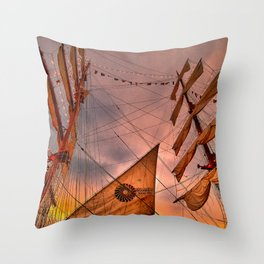 Tall Ship BAE Guayas, Ecuador Throw Pillow