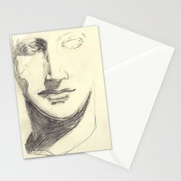Head of a Goddess - sketch Stationery Cards