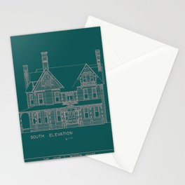 Ornate House 13 Stationery Cards