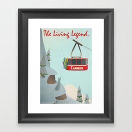 Cannon Mountain Vintage Ski Poster Framed Art Print
