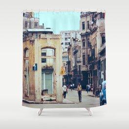 Old Downtown Havana Cuba Shower Curtain