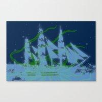 kraken Canvas Prints featuring Kraken by Roaring Branch Creative