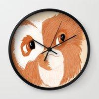 gizmo Wall Clocks featuring Gizmo by ItalianRicanArt