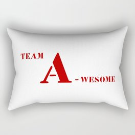 Team A awesome Rectangular Pillow