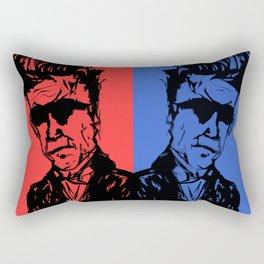 David Lynch Twins Rectangular Pillow