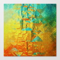 golden Canvas Prints featuring Golden by SensualPatterns