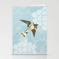 swallow Stationery Cards featuring Swallow by Lorri Leigh Art