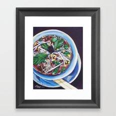 Pho Soup Framed Art Print