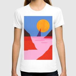 Abstraction_MOONLIGHT_Sailing_Minimalism_001 T-shirt