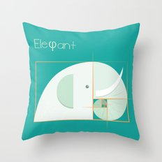 Fibonacci elephant Throw Pillow