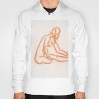 nudes Hoodies featuring Nudes looking away by CharlieValintyne