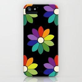 Flower pattern based on James Ward's Chromatic Circle (enhanced) iPhone Case