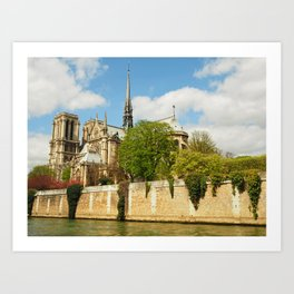 Notre Dame and the River Seine Art Print