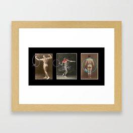 Men Who Hoop Framed Art Print