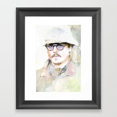 Johnny D Framed Art Print
