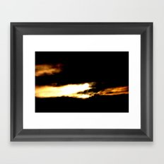 Dragon in a clouds. Framed Art Print