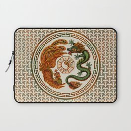 Phoenix and Dragon with bagua #3 Laptop Sleeve