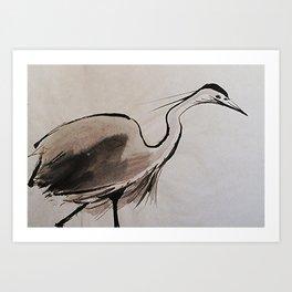 Japanese Crane #society6 #decor #buyart Art Print
