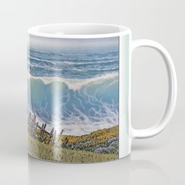 BIG WAVE OCEAN IN MOTION SEASCAPE VINTAGE OIL PAINTING Coffee Mug