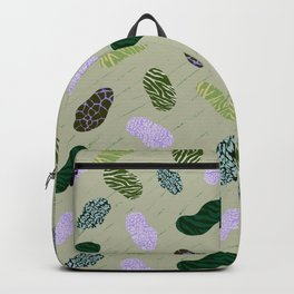 Green Animal Print Patches Backpack