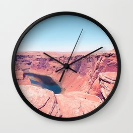 Desert at Horseshoe Bend, Arizona, USA Wall Clock