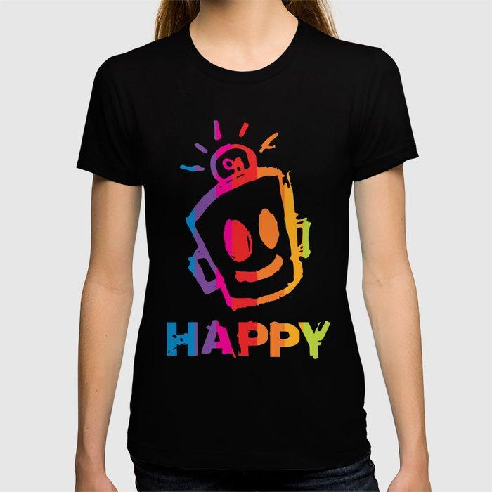 HAPPY  Stripes T-shirt