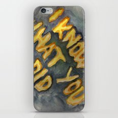 i know what you did iPhone & iPod Skin