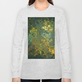 Green Yellow Gemstone Pattern Long Sleeve T-shirt