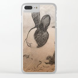 Lmtd Edition Bunny Clear iPhone Case