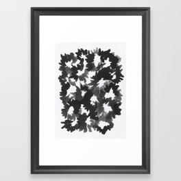 Black Flowers Framed Art Print