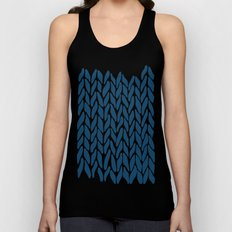 Hand Knitted Navy Unisex Tank Top