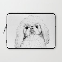 Cartoon Pekingese Dog Laptop Sleeve
