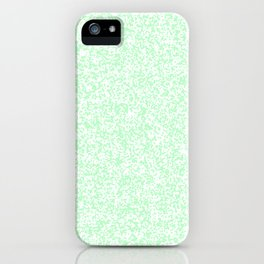 Tiny Spots - White and Light Green iPhone Case