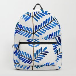 Blue Leaflets Backpack