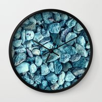 stone Wall Clocks featuring stone by Claudia Drossert
