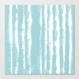 Shibori Stripe Seafoam Canvas Print