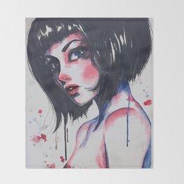 Femme Fatale Throw Blanket