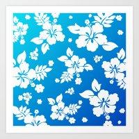 Hawaii Blue Art Print