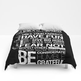 """CARR CUSTOM ORDER — Personalized """"Carr Family Rules"""" Comforters"""