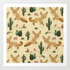 Desert Fox Art Print