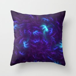 Abstract Fractal Design 5 - Soft Purple and Blue Lights Throw Pillow