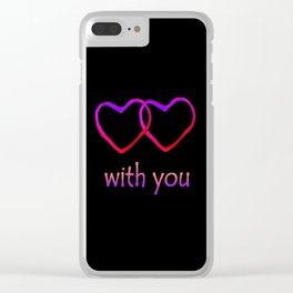 With You Pink Clear iPhone Case
