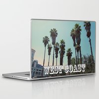 west coast Laptop & iPad Skins featuring West Coast by Romeo & Rebeccah