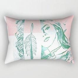 Smile through the window Rectangular Pillow